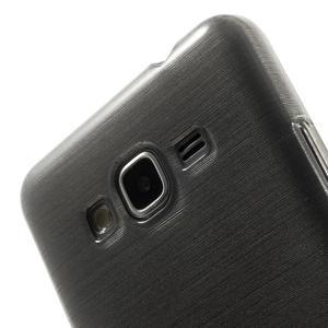 Broušený gelový obal pro Samsung Galaxy Grand Prime - šedý - 3