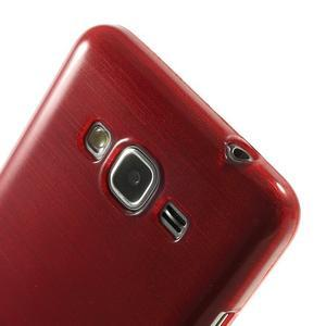 Broušený gelový obal pro Samsung Galaxy Grand Prime - červený - 3