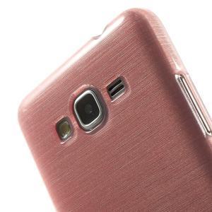 Broušený gelový obal pro Samsung Galaxy Grand Prime - růžový - 3