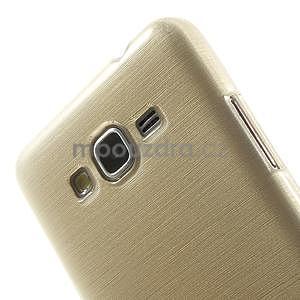 Broušený gelový obal pro Samsung Galaxy Grand Prime - zlatý - 3
