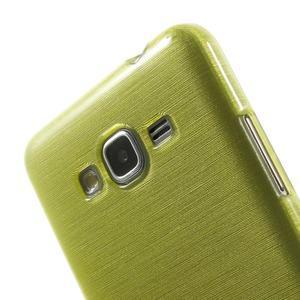Broušený gelový obal pro Samsung Galaxy Grand Prime - zelený - 3