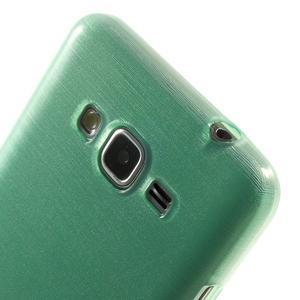 Broušený gelový obal pro Samsung Galaxy Grand Prime - cyan - 3