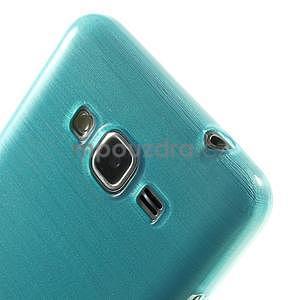 Broušený gelový obal pro Samsung Galaxy Grand Prime - tyrkysový - 3