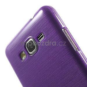 Broušený gelový obal pro Samsung Galaxy Grand Prime - fialový - 3