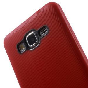 Tenký pogumovaný obal na Samsung Galaxy Grand Prime - červený - 3