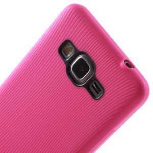 Tenký pogumovaný obal na Samsung Galaxy Grand Prime - rose - 3