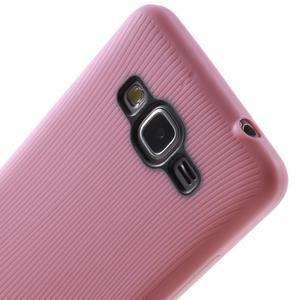 Tenký pogumovaný obal na Samsung Galaxy Grand Prime - růžový - 3