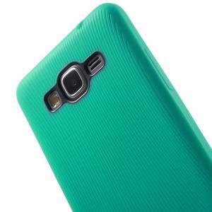 Tenký pogumovaný obal na Samsung Galaxy Grand Prime - cyan - 3