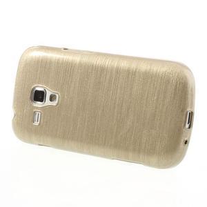 Broušený gelový kryt na Samsung Galaxy S Duos - zlatý - 3