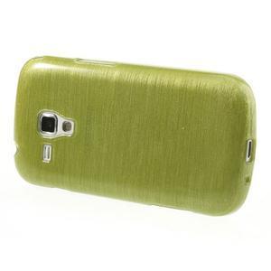 Broušený gelový kryt na Samsung Galaxy S Duos - zeleno žlutý - 3