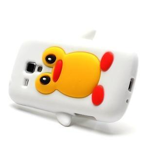 Silikonový obal tučňák na Samsung Galaxy S Duos - bílý - 3