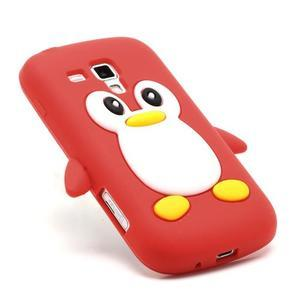 Silikonový obal tučňák na Samsung Galaxy S Duos - červený - 3