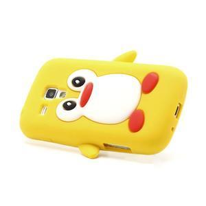 Silikonový obal tučňák na Samsung Galaxy S Duos - žlutý - 3