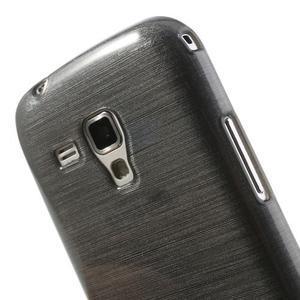Broušený gelový kryt na Samsung Galaxy S Duos - šedý - 3