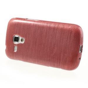 Broušený gelový kryt na Samsung Galaxy S Duos - růžový - 3