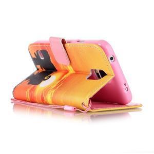 Knížkové PU kožené pouzdro na Samsung Galaxy S5 - západ slunce - 3