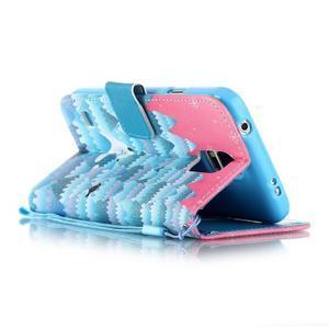 Knížkové PU kožené pouzdro na Samsung Galaxy S5 - sněžný muž - 3