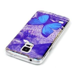 Blu-ray gelový obal s odlesky na Samsung Galaxy S5 - motýlek - 3