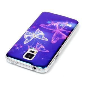 Blu-ray gelový obal s odlesky na Samsung Galaxy S5 - kouzelní motýlci - 3