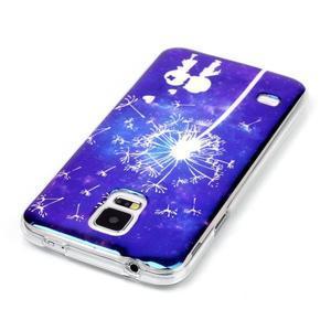 Blu-ray gelový obal s odlesky na Samsung Galaxy S5 - láska - 3