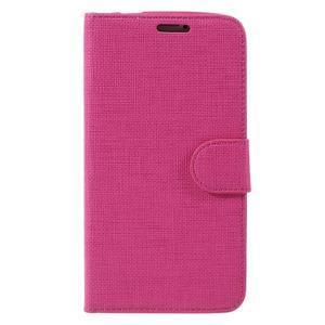 Clothy Pu kožené pouzdro na Samsung Galaxy S5 - rose - 3