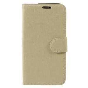 Clothy Pu kožené pouzdro na Samsung Galaxy S5 - champagne - 3