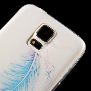 Ultratenký slim gelový obal na Samsung Galaxy S5 - peříčko - 3