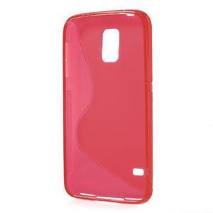 S-line gelový obal na mobil Samsung Galaxy S5 - červený - 3
