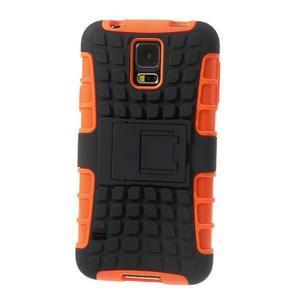 Outdoor odolný kryt na mobil Samsung Galaxy S5 - oranžový - 3