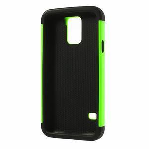 Odolný obal 2v1 na mobil Samsung Galaxy S5 - zelený - 3