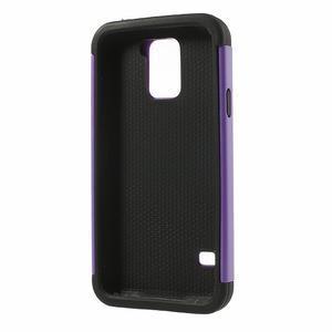 Odolný obal 2v1 na mobil Samsung Galaxy S5 - fialový - 3