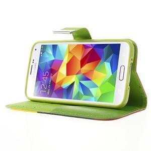 Colory PU kožené pouzdro na mobil Samsung Galaxy S5 - variant II - 3