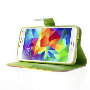 Colory PU kožené pouzdro na mobil Samsung Galaxy S5 - variant I - 3