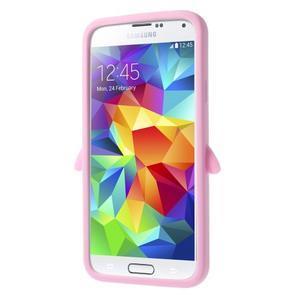 Penguin silikonový obal na Samsung Galaxy S5 - růžový - 3