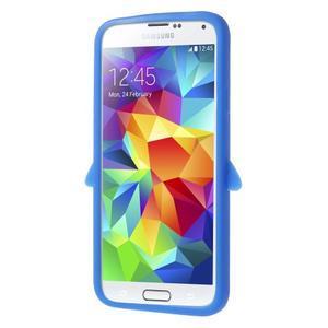 Penguin silikonový obal na Samsung Galaxy S5 - modrý - 3