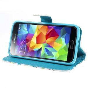 Emotive PU kožené pouzdro na Samsung Galaxy S5 mini - motýlci - 3