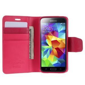 Sonata PU kožené pouzdro na Samsung Galaxy S5 mini - rose - 3