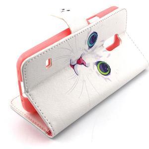 Peněženkové pouzdro na mobil Samsung Galaxy S5 mini - kočička - 3