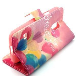 Peněženkové pouzdro na mobil Samsung Galaxy S5 mini - balónky - 3