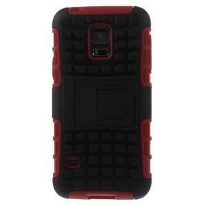 Outdoor odolný obal na mobil Samsung Galaxy S5 mini - červený - 3
