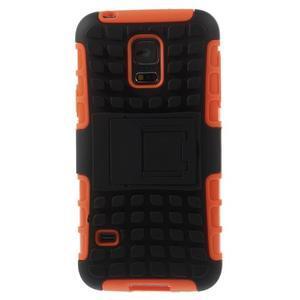 Outdoor odolný obal na mobil Samsung Galaxy S5 mini - oranžový - 3