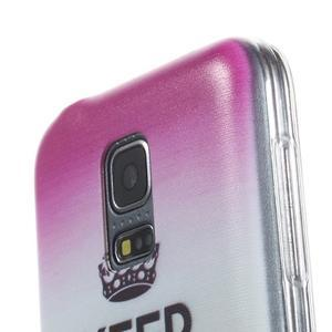 Ultratenký obal na mobil Samsung Galaxy S5 mini - Keep Calm - 3