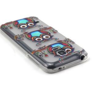 Transparentní gelový obal na mobil Samsung Galaxy S5 mini - sovy - 3