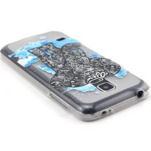 Transparentní gelový obal na mobil Samsung Galaxy S5 mini - slon - 3