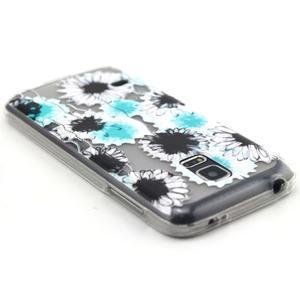 Transparentní gelový obal na mobil Samsung Galaxy S5 mini - sedmikrásky - 3