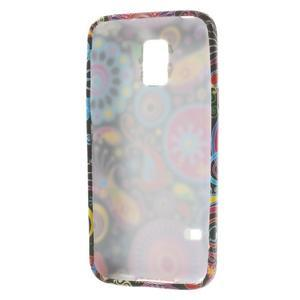 Softy gelový obal na Samsung Galaxy S5 mini - barevné kruhy - 3