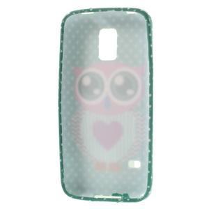 Softy gelový obal na Samsung Galaxy S5 mini - zamilovaná sova - 3