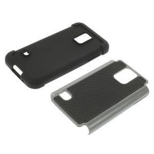 Odolný kryt 2v1 na mobil Samsung Galaxy S5 mini - šedý - 3