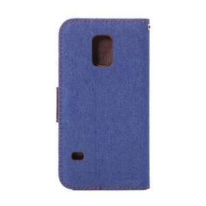 Jeans peněženkové pouzdro na Samsung Galaxy S5 mini - modré - 3