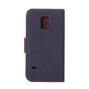Jeans peněženkové pouzdro na Samsung Galaxy S5 mini - černomodré - 3